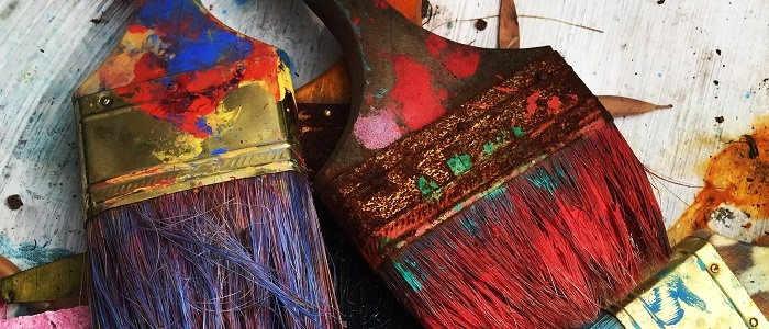 Paint brushes used for painting maintenance for retirement villages